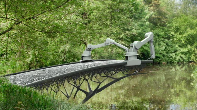 Un pont à Amsterdam imprimé en 3D