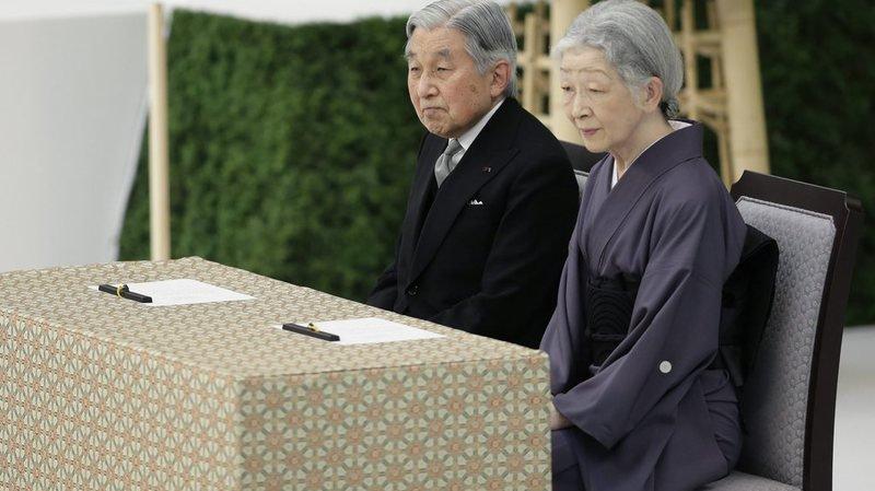 """Capitulation du Japon: l'empereur Akihito exprime de """"profonds remords"""""""